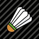 badminton, ball, equipment, shuttlecock, sports