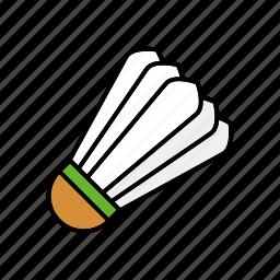 badminton, ball, equipment, shuttlecock, sports icon