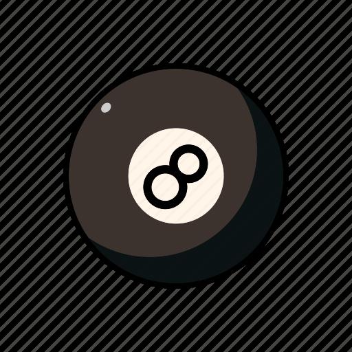 ball, billiards, eight ball, equipment, pool, pub sports, sports icon