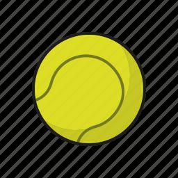 ball, equipment, lawn sports, sports, tennis icon