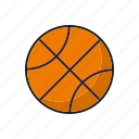ball, basketball, equipment, sports, team sports icon
