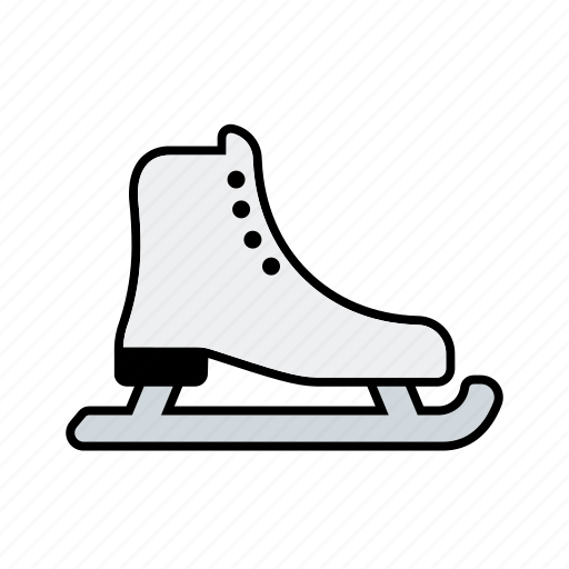 equipment, ice skating, shoe, skid, sports, winter sports icon