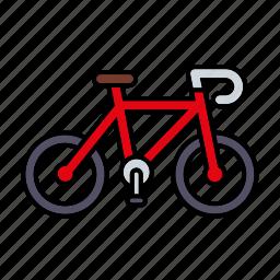 bicycle, cycling, equipment, mountain bike, sports icon