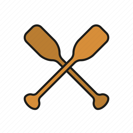 equipment, paddle, rowing, sports, water sports icon