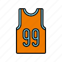 basketball, clothing, equipment, shirt, sports, team sports icon