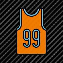 basketball, clothing, equipment, shirt, sports, team sports icon