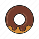 cake, candy, chocolate, donut, food, pastry, sweets icon