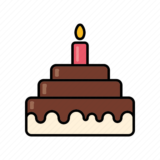 birthday, cake, food, gateau, pastry, sweet, sweets icon