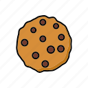 cake, chocolate chip, cookie, dessert, food, pastry, sweets icon