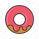 cake, donut, food, icing, pastry, strawberry, sweets icon