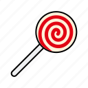 candy, food, hard candy, lollipop, stick, sweets, swirl icon