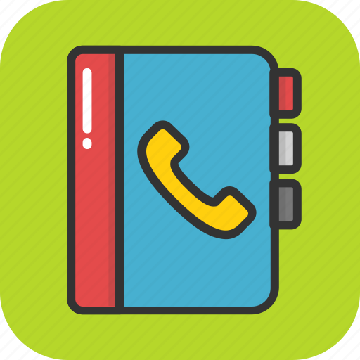 address book, contacts, memo, phone directory, phonebook icon