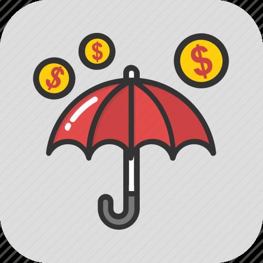 cash flow, expenses, money fall, money rain, spending money icon