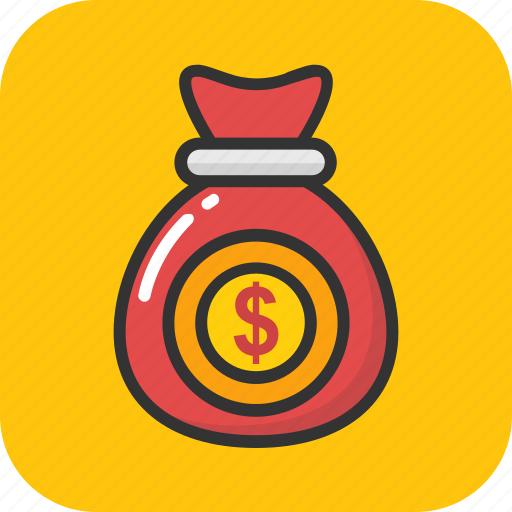 investment, money sack, money stack, moneybag, rich icon