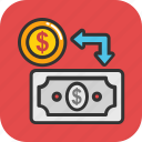 cash conversion, cash flow, ccc, money exchange, payment method icon
