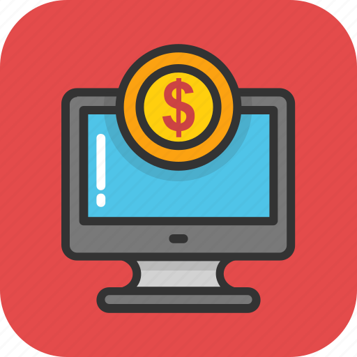 computer, ebanking, ecommerce, finance, online payment icon