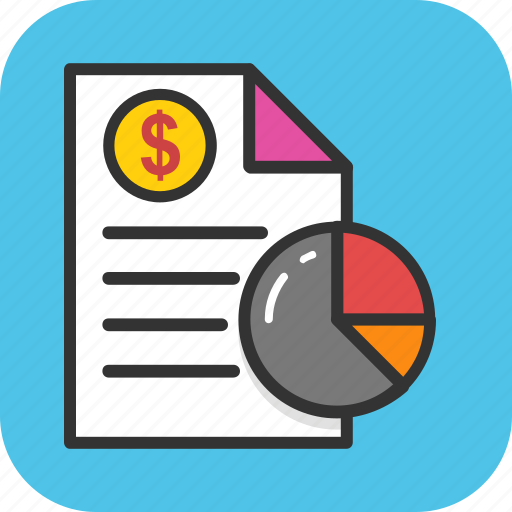 business analysis, business graph, business report, financial infographic, financial report icon