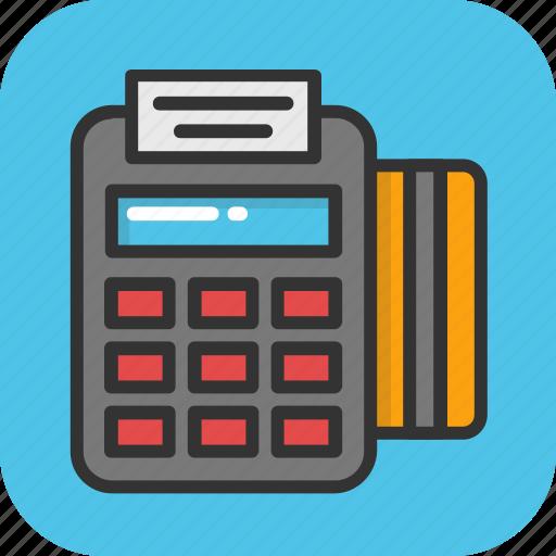 cashless transaction, payment machine, pos machine, pos terminal, swipe machine icon