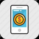 ebanking, internet banking, mobile banking, online banking, smartphone icon