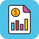 business graph, business report, financial infographic, financial report, graph chart icon