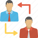 employee change, professional switching, staff replacement, staff turnover, team management icon
