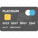 credit card, debit card, electronic payment, financial technology, plastic money icon