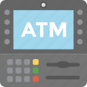 atm machine, atm screen, cash machine, payment terminal, transaction technology icon