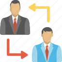 employee change, team management, professional switching, staff replacement, staff turnover icon