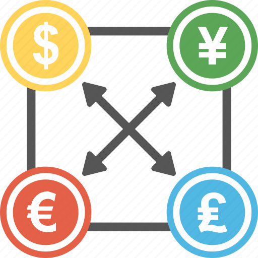 Currency Converter Dollar Yen Exchange Foreign Forex Money Icon