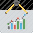 statistic analytics, line graph analysis, bar chart analysis, growth chart, financial report icon