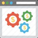 web financing, dollar processing, online finance system, online business, online money making icon