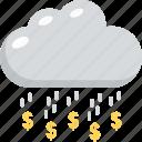 cash cloud, dollar rain, earning development, money rain, time to rich icon