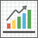 barchart graph, financial reporting, growth analysis, infographic information, statistics icon