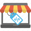 discount sale, ecommerce, online shopping, sale offer, web voucher icon