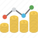 stock market graph, economical analysis, financial graph, ups and down, profit and loss icon