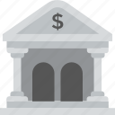architecture, bank building, column house, financing concept, treasury center icon