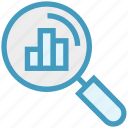 analytics, finance, find, magnifier, search, transactions, view icon