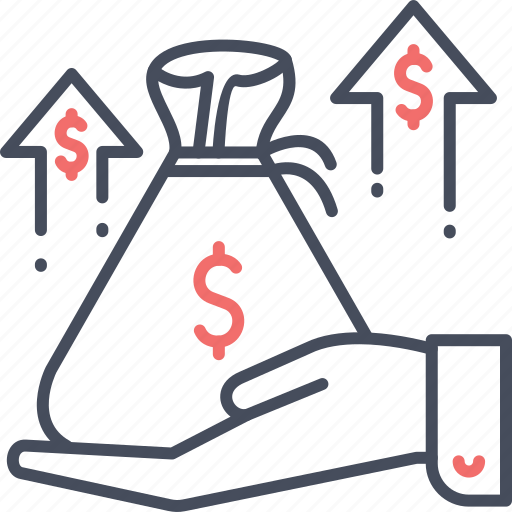 business, finance, growth, money, moneybag, payment icon