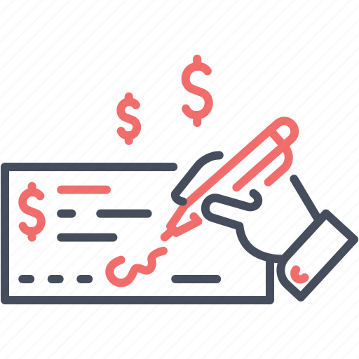 cheque, finance, money, payment, sign icon