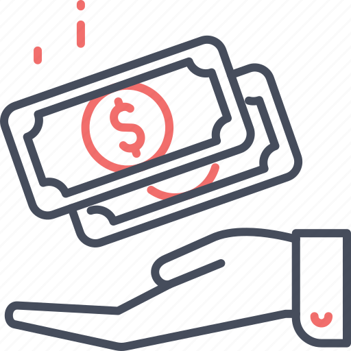 Transaction, finance, money, dollar, cash, payment icon