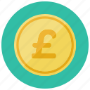 britian, british, coin, currency, finance, pound icon
