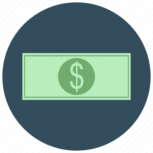 bill, cash, currency, dollar, finance, payment icon