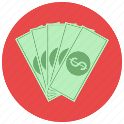 bills, currency, dollar, finance, payment icon
