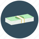 bills, cash, currency, dollar, finance, payment, stack icon