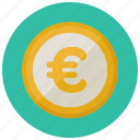 circle, coin, currency, euro, europe, finance, payment icon