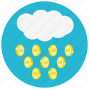 cloud, coin, dollar, finance, money, rain icon