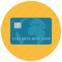 creditcard, earth, finance, method, payment, pincode icon