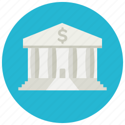 bank, building, currency, dollar, finance, save icon