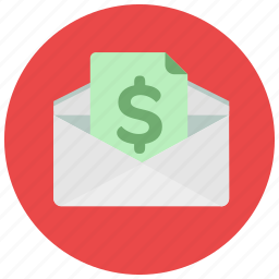 dollar, envelope, finance, payment, receive icon