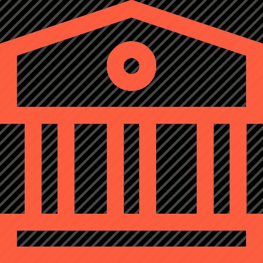 bank, building, exterior, facade, finance, museum, theater icon
